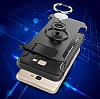 Eiroo Mage Fit Samsung Galaxy J5 Prime Standlı Ultra Koruma Dark Silver Kılıf - Resim 2