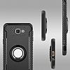 Eiroo Mage Fit Samsung Galaxy J5 Prime Standlı Ultra Koruma Dark Silver Kılıf - Resim 4