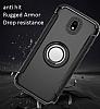 Eiroo Mage Fit Samsung Galaxy J5 Pro 2017 Standlı Ultra Koruma Siyah Kılıf - Resim 7
