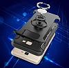 Eiroo Mage Fit Samsung Galaxy J7 Prime Standlı Ultra Koruma Lacivert Kılıf - Resim 7
