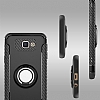 Eiroo Mage Fit Samsung Galaxy J7 Prime Standlı Ultra Koruma Lacivert Kılıf - Resim 5