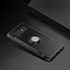 Eiroo Mage Fit Samsung Galaxy Note 8 Standlı Ultra Koruma Lacivert Kılıf - Resim 2