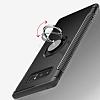 Eiroo Mage Fit Samsung Galaxy Note 8 Standlı Ultra Koruma Lacivert Kılıf - Resim 5