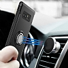 Eiroo Mage Fit Samsung Galaxy Note 8 Standlı Ultra Koruma Lacivert Kılıf - Resim 1