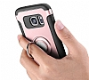 Eiroo Mage Fit Samsung Galaxy S7 Edge Standlı Ultra Koruma Silver Kılıf - Resim 2
