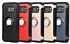 Eiroo Mage Fit Samsung Galaxy S7 Edge Standlı Ultra Koruma Kırmızı Kılıf - Resim 6