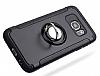 Eiroo Mage Fit Samsung Galaxy S7 Edge Standlı Ultra Koruma Silver Kılıf - Resim 1