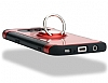 Eiroo Mage Fit Samsung Galaxy S7 Edge Standlı Ultra Koruma Kırmızı Kılıf - Resim 7