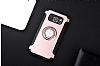 Eiroo Mage Fit Samsung Galaxy S7 Edge Standlı Ultra Koruma Rose Gold Kılıf - Resim 9