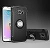 Eiroo Mage Fit Samsung Galaxy S7 Standlı Ultra Koruma Siyah Kılıf - Resim 9