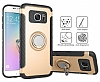 Eiroo Mage Fit Samsung Galaxy S7 Standlı Ultra Koruma Lacivert Kılıf - Resim 8