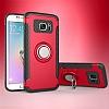 Eiroo Mage Fit Samsung Galaxy S7 Standlı Ultra Koruma Kırmızı Kılıf - Resim 9