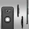 Eiroo Mage Fit Samsung Galaxy S7 Standlı Ultra Koruma Lacivert Kılıf - Resim 7