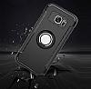 Eiroo Mage Fit Samsung Galaxy S7 Standlı Ultra Koruma Lacivert Kılıf - Resim 6