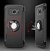 Eiroo Mage Fit Samsung Galaxy S7 Standlı Ultra Koruma Kırmızı Kılıf - Resim 2