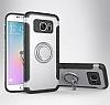 Eiroo Mage Fit Samsung Galaxy S7 Standlı Ultra Koruma Silver Kılıf - Resim 7