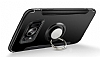 Eiroo Mage Fit Samsung Galaxy S8 Plus Standlı Ultra Koruma Dark Silver Kılıf - Resim 2