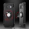 Eiroo Mage Fit Samsung Galaxy S8 Standlı Ultra Koruma Siyah Kılıf - Resim 3