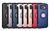 Eiroo Mage Fit Samsung Galaxy S8 Standlı Ultra Koruma Siyah Kılıf - Resim 8