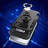 Eiroo Mage Fit Samsung Galaxy S8 Standlı Ultra Koruma Siyah Kılıf - Resim 2