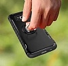 Eiroo Mage Fit Samsung Galaxy S8 Standlı Ultra Koruma Siyah Kılıf - Resim 4