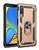 Eiroo Magnet Ring Samsung Galaxy A7 2018 Ultra Koruma Gold Kılıf