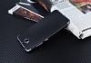 Eiroo Matte Fit Casper Via A1 Dark Silver Kenarlı Siyah Silikon Kılıf - Resim 2