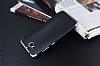 Eiroo Matte Fit Casper Via A1 Silver Kenarlı Siyah Silikon Kılıf - Resim 2