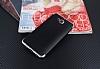 Eiroo Matte Fit Casper Via A1 Silver Kenarlı Siyah Silikon Kılıf - Resim 1