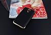 Eiroo Matte Fit General Mobile Android One Gold Kenarlı Siyah Silikon Kılıf - Resim 1