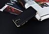 Eiroo Matte Fit General Mobile Android One Gold Kenarlı Siyah Silikon Kılıf - Resim 2