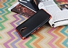 Eiroo Matte Fit General Mobile GM 5 Plus Kırmızı Kenarlı Siyah Silikon Kılıf - Resim 2