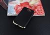 Eiroo Matte Fit General Mobile GM6 Gold Kenarlı Siyah Silikon Kılıf - Resim 1
