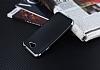 Eiroo Matte Fit General Mobile GM6 Silver Kenarlı Siyah Silikon Kılıf - Resim 2