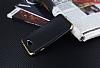Eiroo Matte Fit General Mobile GM6 Gold Kenarlı Siyah Silikon Kılıf - Resim 2