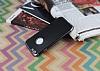 Eiroo Matte Fit iPhone 6 / 6S Dark Silver Kenarlı Siyah Silikon Kılıf - Resim 2