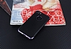Eiroo Matte Fit iPhone 7 Dark Silver Kenarlı Siyah Silikon Kılıf - Resim 1