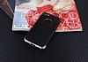 Eiroo Matte Fit iPhone 7 Rose Gold Kenarlı Siyah Silikon Kılıf - Resim 1