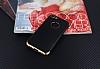 Eiroo Matte Fit iPhone 7 Gold Kenarlı Siyah Silikon Kılıf - Resim 1
