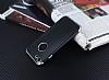 Eiroo Matte Fit iPhone 7 Silver Kenarlı Siyah Silikon Kılıf - Resim 2