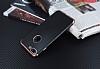 Eiroo Matte Fit iPhone 7 Plus Rose Gold Kenarlı Siyah Silikon Kılıf - Resim 2