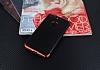 Eiroo Matte Fit iPhone 7 Plus / 8 Plus Kırmızı Kenarlı Siyah Silikon Kılıf - Resim 1