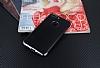 Eiroo Matte Fit iPhone 7 Plus Dark Silver Kenarlı Siyah Silikon Kılıf - Resim 1