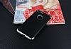 Eiroo Matte Fit iPhone 7 Plus / 8 Plus Silver Kenarlı Siyah Silikon Kılıf - Resim 1