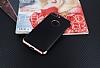 Eiroo Matte Fit iPhone 7 Plus Rose Gold Kenarlı Siyah Silikon Kılıf - Resim 1