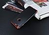 Eiroo Matte Fit iPhone 7 Plus / 8 Plus Kırmızı Kenarlı Siyah Silikon Kılıf - Resim 2