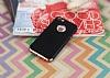 Eiroo Matte Fit iPhone SE / 5 / 5S Rose Gold Kenarlı Siyah Silikon Kılıf - Resim 1