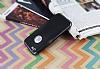 Eiroo Matte Fit iPhone SE / 5 / 5S Dark Silver Kenarlı Siyah Silikon Kılıf - Resim 2