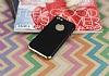 Eiroo Matte Fit iPhone SE / 5 / 5S Gold Kenarlı Siyah Silikon Kılıf - Resim 1