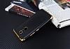 Eiroo Matte Fit Lenovo K6 Note Gold Kenarlı Siyah Silikon Kılıf - Resim 2